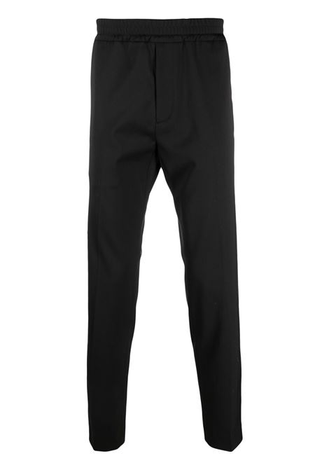 Maison kitsuné elasticated-waist trousers men black MAISON KITSUNÉ | Trousers | GM01139WT0016BK