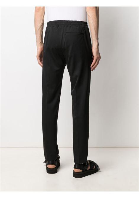 Maison kitsuné elasticated-waist trousers men black MAISON KITSUNÉ | GM01139WT0016BK