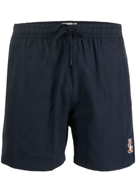 Maison kitsuné fox logo swim shorts men dark navy MAISON KITSUNÉ | Swimwear | GM03101WA4001DN