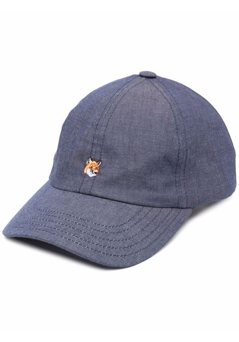 Maison kisuné fox-embroidered cap men navy MAISON KITSUNÉ | Hats | GU06129WC2009NA