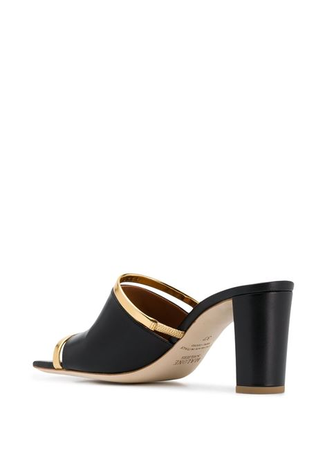 Cut-out band mules MALONE SOULIERS | DEMIMS704BLKGLD