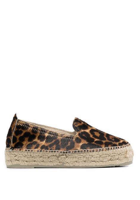 Slip on espadrillas with almond toe leopard - women MANEBI | D62D0LPRD