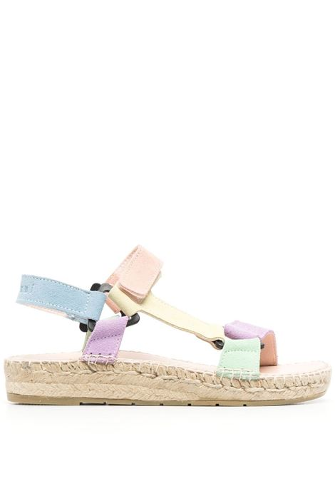 Manebi women colour block sandals lilac yellow rose MANEBI   G21JHLLCYLLWRS