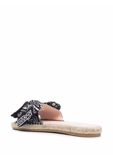 Manebi bandana-print flats women black bandana MANEBI | G56J0BLKBNDN