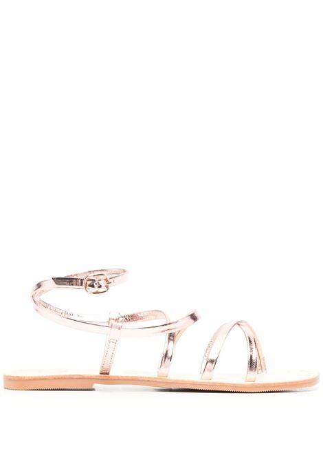 Manebi women hollywood sandals rose gold tie up MANEBI   S60Y0RSGLDTP