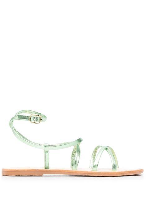 Manebi women hollywood sandals emerald gold tie up MANEBI | S61Y0EMRLDGLDTP
