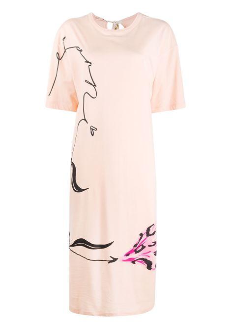 Marni abito modello t-shirt a fiori donna lfc29 MARNI | Abiti | ABJE0674P1USCR28LFC29