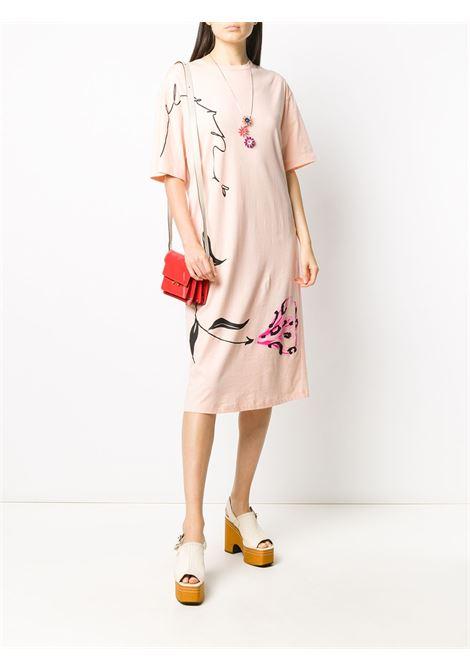 Abito modello T-shirt a fiori Donna MARNI   ABJE0674P1USCR28LFC29