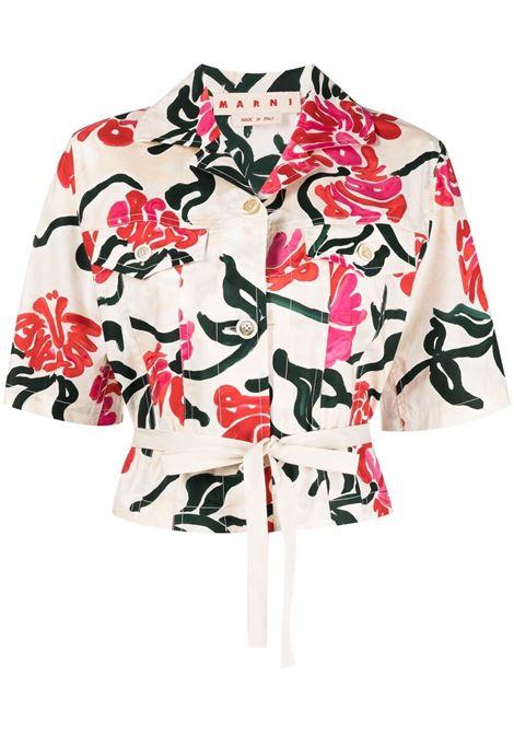 Marni camicia con stampa donna trw08 MARNI | Camicie | CAMA0420A0UTC005TRW08