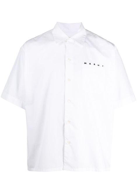 Marni camicia con logo uomo 00w01 MARNI | Camicie | CUMU0202P0S5366300W01