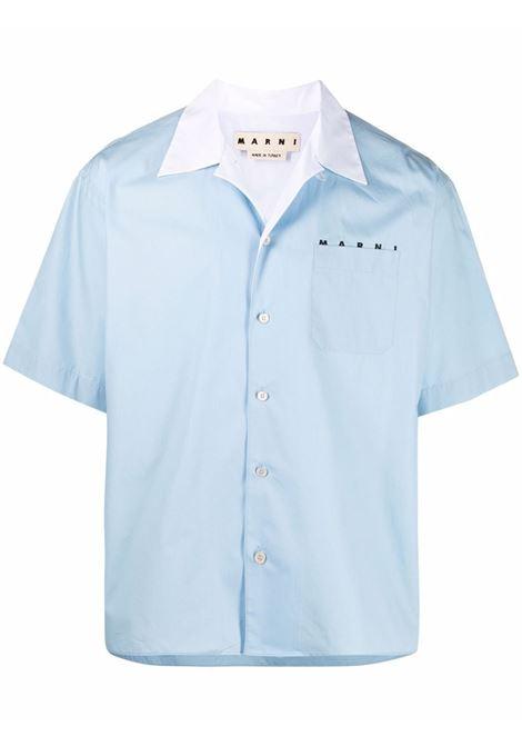 Marni camicia con logo uomo 00b12 MARNI | Camicie | CUMU0216PQS5366300B12