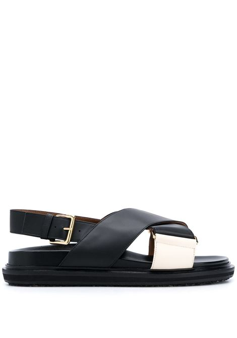 Marni sandali con design a incrocio donna zm102 MARNI | Sandali | FBMS005201P3614ZM102