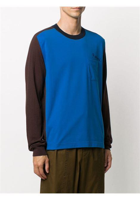 Contrast-panel long sleeve t-shirt MARNI | GCMG0175Q0S17621M1X99