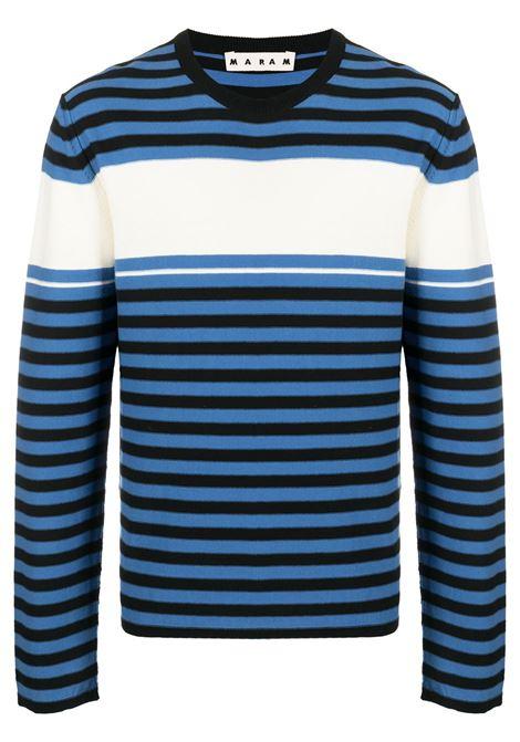 Marni t-shirt a maniche lunghe a righe uomo rgb98 MARNI | T-shirt | GCMG0181Q0S17747RGB98