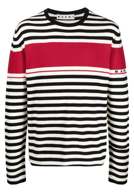 Marni striped sweatshirt men rgn99 MARNI | Sweaters | GCMG0181Q0S17747RGN99