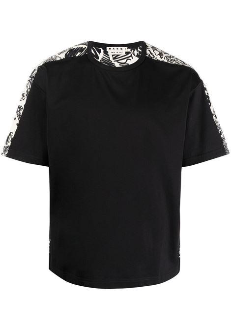Marni t-shirt a fiori uomo y4457 MARNI | T-shirt | HUMU0009Q0STJ333Y4457