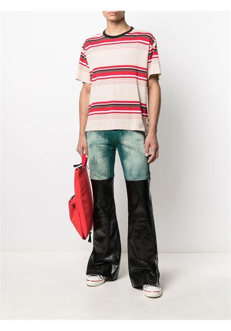 Panelled striped T-shirt MARNI | HUMU0009Q0STJ336Y4468