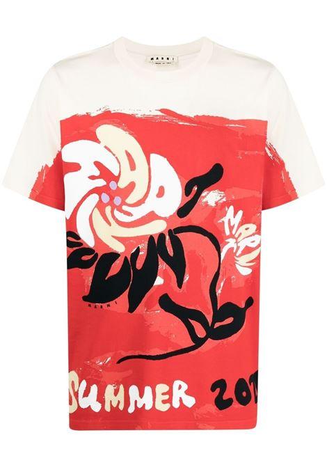 Marni t-shirt marni festo uomo y4436 MARNI | T-shirt | HUMU0220P0S23727Y4436
