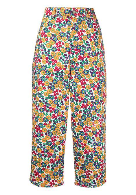Marni pantaloni crop a fiori donna pgw01 MARNI | Pantaloni | PAJDV05A00UTCZ59PGW01