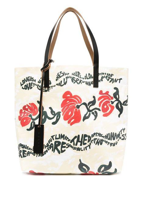 Slogan-printshoulder bag MARNI | Shoulder bags | SHMPQ10A08P4174Z2N66