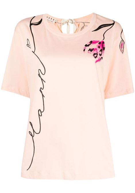 Marni t-shirt a fiori donna lfc29 MARNI | T-shirt | THJE0220P1USCR28LFC29