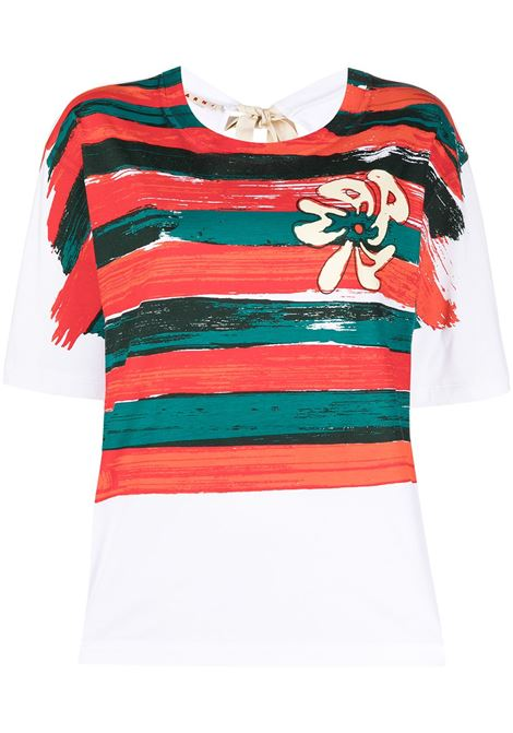 Marni strip T-shirt women bsr65 MARNI   T-shirt   THJE0220P2USCR33BSR65
