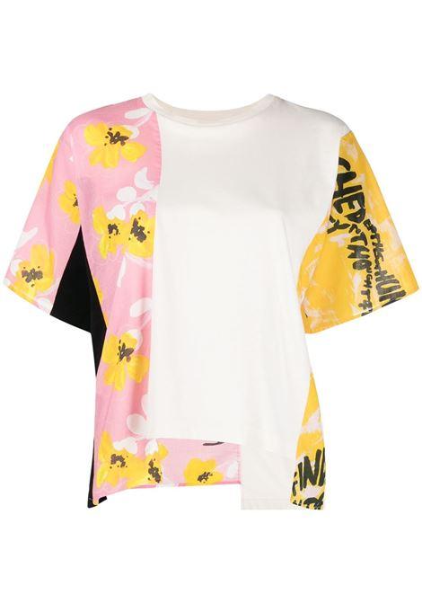 Marni t-shirt con design color-block donna 00w13 MARNI | T-shirt | THJE0228Q0TCY6800W13