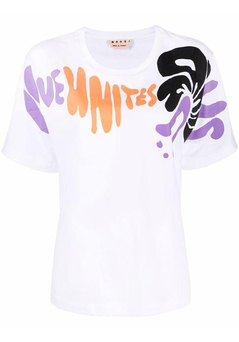 T-shirt con stampa grafica Donna MARNI | T-shirt | THJEL32EPUUSCRLUW01