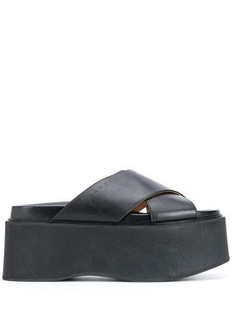 Marni sandali con cinturini incrociati donna 00n99 MARNI | Sandali | ZPMS006006P403000N99