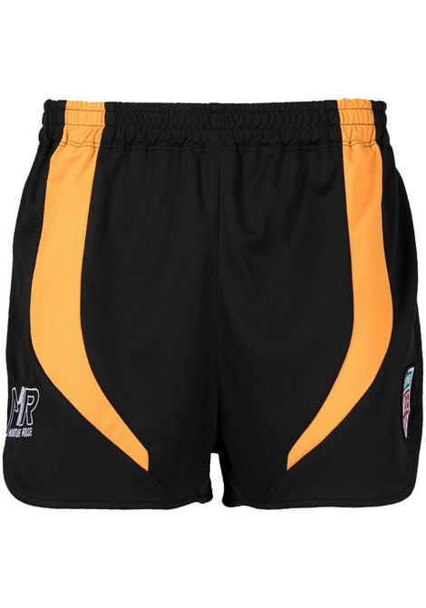 Martine Rose pantaloncini sportivi con logo uomo black orange MARTINE ROSE | Bermuda | MR131SMR932