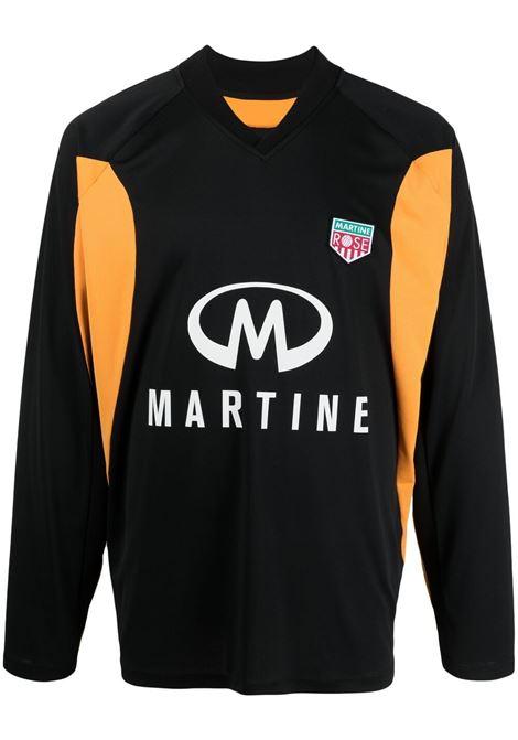 Martine Rose t-shirt con design color-block uomo black orange MARTINE ROSE | T-shirt | MR121SMR932