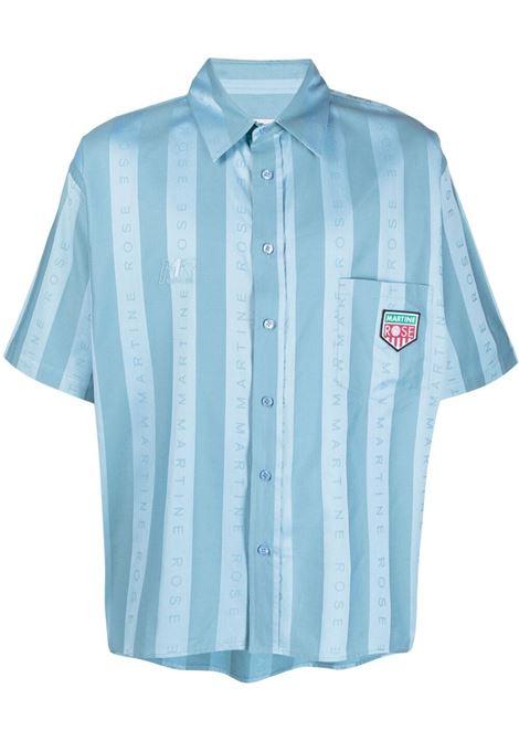 Martine rose camicia a righe uomo light blue MARTINE ROSE | Camicie | MR425IMR061