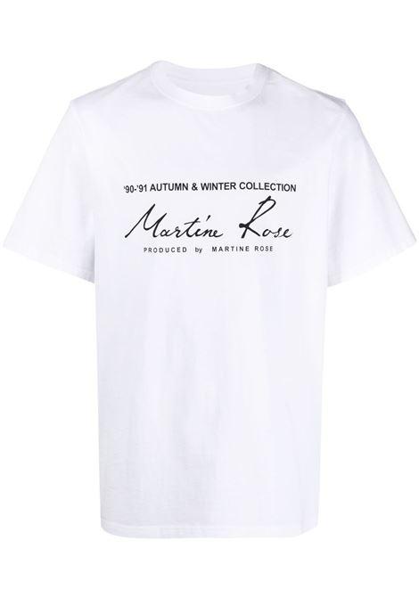 Martine Rose t-shirt con logo unisex white MARTINE ROSE   T-shirt   MR603JMR001