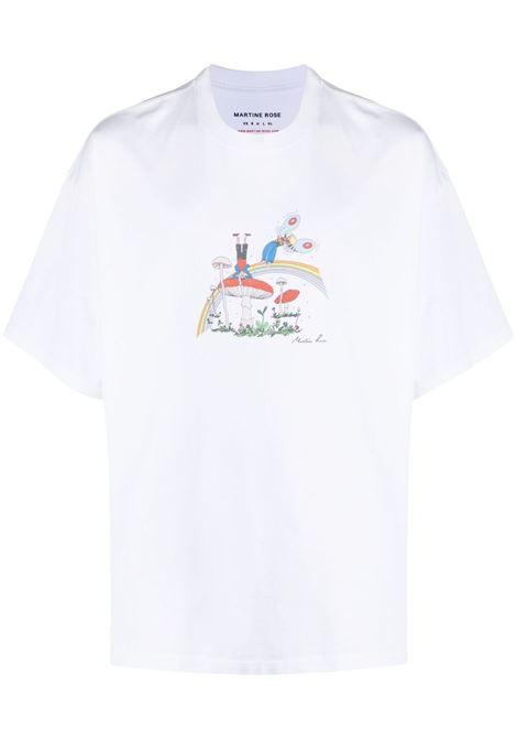 Martine Rose t-shirt con stampa uomo white cartoon MARTINE ROSE | T-shirt | MR621FMR1CA