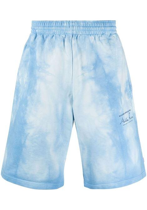 Martine rose pantaloncini con fantasia tie dye uomo light blue MARTINE ROSE | Bermuda | MR623TMR061