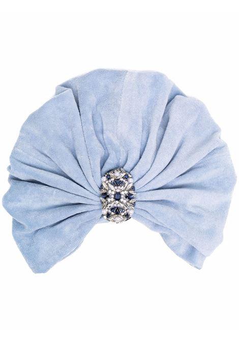 Maryjane claverol turbante souk donna blue fog MARYJANE CLAVEROL | Accessori per capelli | 0160020739BLFG