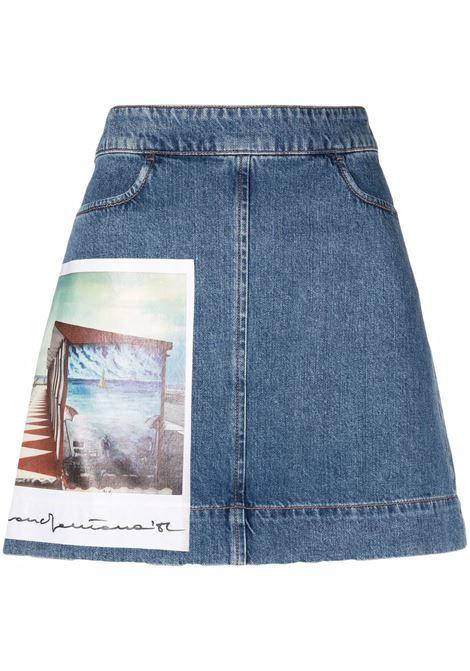 Maxmara sportmax faggio skirt women 022 blue MAXMARA SPORTMAX | Skirts | 71010111600022