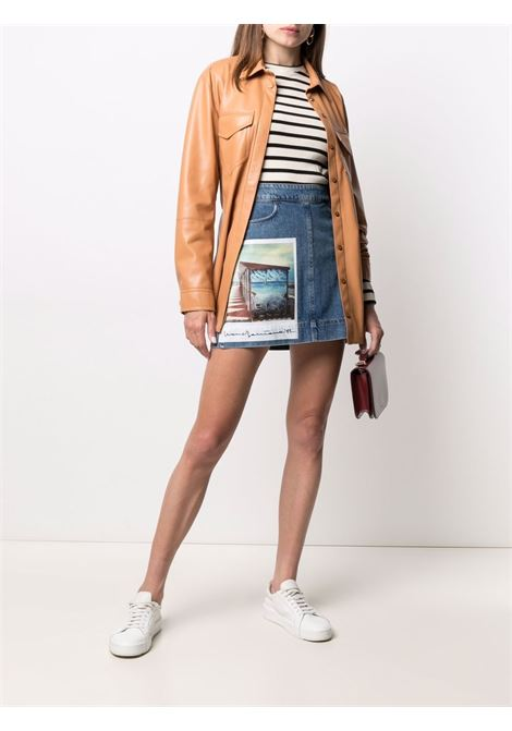 Maxmara sportmax faggio skirt women 022 blue MAXMARA SPORTMAX | 71010111600022