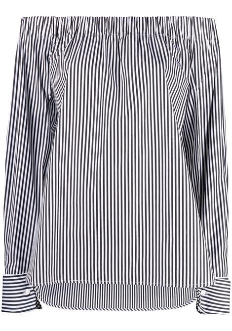 Maxmara camicia seggio donna nero bianco MAXMARA | Camicie | 11110918600001