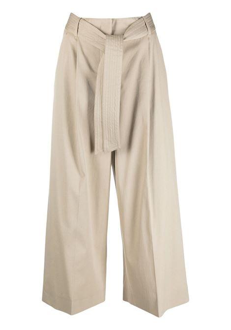 Maxmara pantaloni con cintura donna sabbia MAXMARA   Pantaloni   11310712600002