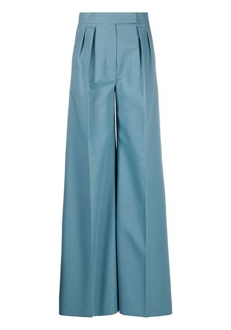 Maxmara pantaloni a gamba ampia donna turchese MAXMARA   Pantaloni   11312318600005