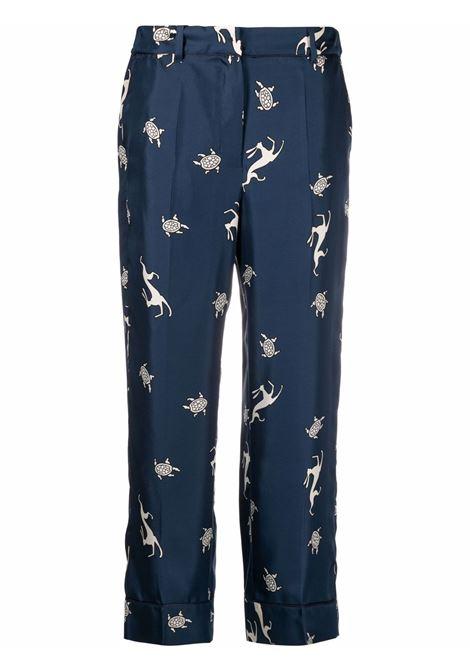 Maxmara pantaloni sansa donna 004 blue MAXMARA | Pantaloni | 91311212600004