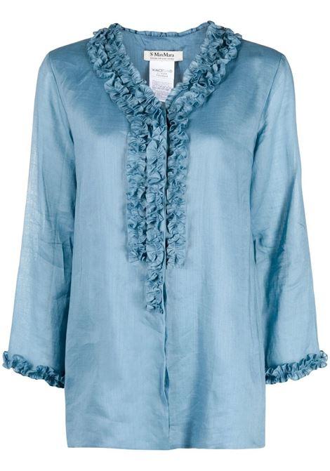 Maxmara blusa shaker donna bluette MAXMARA   Bluse   91910112600016