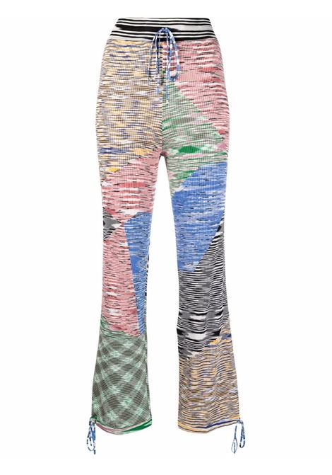 Ribbed-knit cropped trousers multicolored - men MISSONI | Trousers | MDI00290BK00S8SM53G