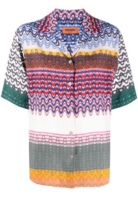 Missoni camicia con stampa donna sm59h MISSONI | Camicie | MDJ00217BW00E8SM59H