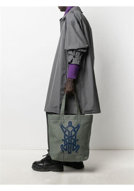Moncler craig green graphic-print handbag men 810 green MONCLER CRAIG GREEN | 5D7010002SWJ810