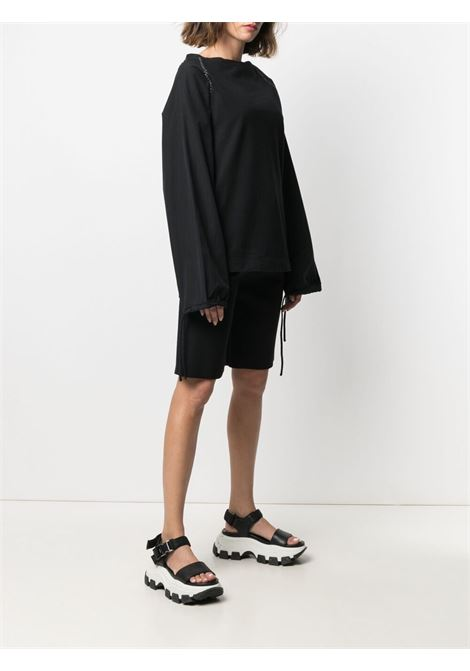 Oversize drawstring sweatshirt in black - women MONCLER JW ANDERSON | 8D00005M1162999