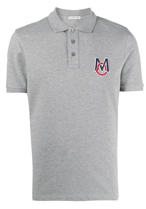 Moncler polo con logo uomo MONCLER | Polo | 8A7290084556984