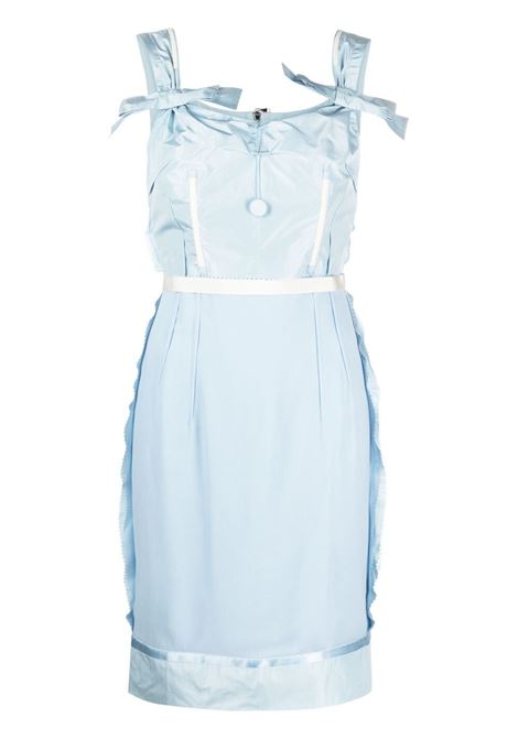 Moschino scallop-trim bow dress women fantasia azzurro MOSCHINO | Dresses | A04054361293