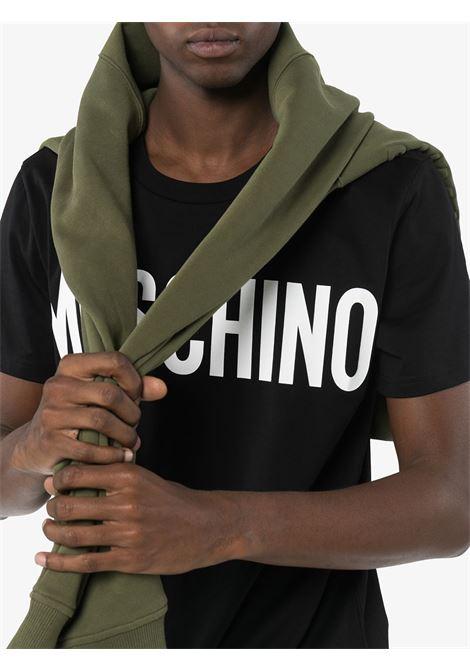 T-shirt con logo Uomo MOSCHINO | A070520401555